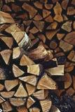Mucchio di legna da ardere Immagine Stock