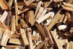 Mucchio di legna da ardere Fotografie Stock