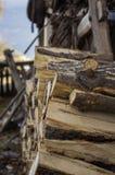 Mucchio di legna da ardere fotografia stock libera da diritti