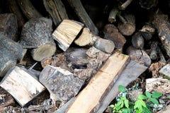 Mucchio di legna da ardere Immagini Stock Libere da Diritti