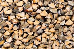 Mucchio di legna da ardere come fondo Fotografia Stock Libera da Diritti