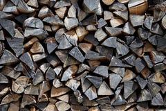 Mucchio di legname Immagini Stock