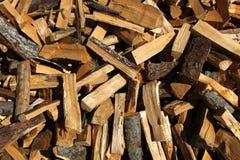 Mucchio di legno immagini stock