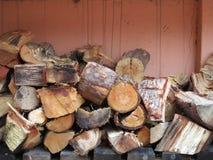 Mucchio di legno di diminuzione fotografia stock libera da diritti