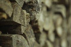 Mucchio di legno per combustibile Fotografie Stock