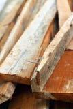Mucchio di legno per la costruzione Fotografie Stock Libere da Diritti