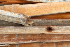 Mucchio di legno per la costruzione Immagini Stock Libere da Diritti