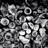 Mucchio di legno rustico Fotografia Stock