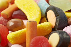 Mucchio di masticazione delle caramelle Immagini Stock