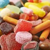Mucchio di masticazione delle caramelle Fotografie Stock Libere da Diritti