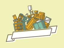 Mucchio di mobilia illustrazione di stock