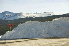 Mucchio di neve Immagini Stock