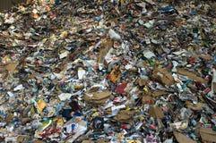 Mucchio di plastica di carta Fotografia Stock