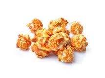 Mucchio di popcorn appetitoso con gusto e sapore del caramello immagine stock
