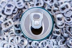 Mucchio di riciclaggio di alluminio Fotografia Stock