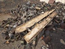 Mucchio di rifiuti e dei bordi Fotografia Stock