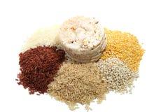 Mucchio di riso e del dolce di riso Fotografia Stock Libera da Diritti