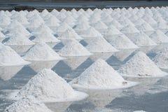 Mucchio di sale marino nell'azienda agricola originale dei prodotti del sale Fotografia Stock