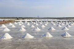 Mucchio di sale nella pentola del sale a zona rurale della Tailandia Immagine Stock Libera da Diritti