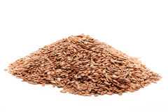Mucchio di seme di lino o del seme di lino organico Fotografia Stock Libera da Diritti