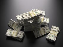 Mucchio di soldi, dollari Fotografia Stock
