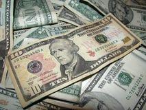 Mucchio di soldi v1 Fotografie Stock Libere da Diritti