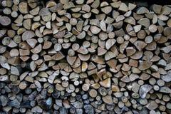 Mucchio di struttura di legno Fotografia Stock