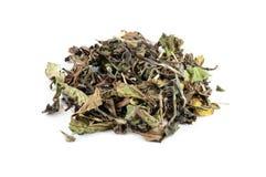 Mucchio di tè bianco Fotografie Stock