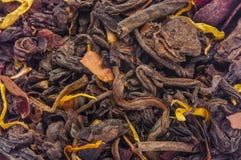 Mucchio di tè verde asciutto Fotografia Stock Libera da Diritti