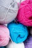 Mucchio di tricottare lana Fotografie Stock