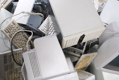 Mucchio di vecchi calcolatori Immagine Stock