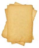 Mucchio di vecchi documenti dell'annata Fotografie Stock
