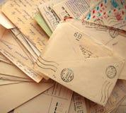 Mucchio di vecchie lettere Fotografia Stock Libera da Diritti