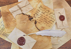 Fondo della lettera Fotografie Stock Libere da Diritti