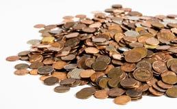 Mucchio di vecchie, monete sporche 2 Fotografia Stock