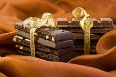 Mucchio due di cioccolato Immagini Stock