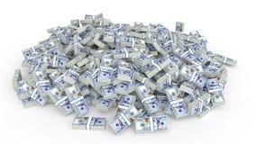 Mucchio enorme dei contanti dei dollari illustrazione di stock