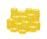 Mucchio enorme delle monete di oro illustrazione vettoriale