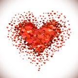 Mucchio a forma di del cuore Fotografie Stock Libere da Diritti