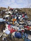 Mucchio residuo sul junkyard fotografia stock libera da diritti