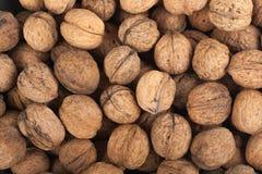 Mucchio sparso delle noci, fondo, fresco, noci, mercato Vista superiore Fotografia Stock Libera da Diritti