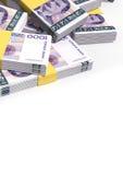 Mucchio sparso note della corona norvegese Fotografie Stock