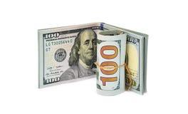 Mucchio vecchie e nuove delle note dei dollari, Immagine Stock