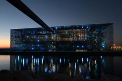 MuCEM τή νύχτα Στοκ φωτογραφία με δικαίωμα ελεύθερης χρήσης