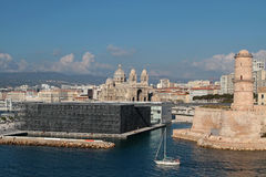MuCEM e forte Saint-Jean em Marselha Imagem de Stock
