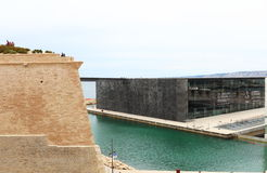 MuCEM and Fort Saint-Jean, France stock photography