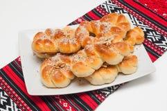 Mucenici :传统罗马尼亚曲奇饼 免版税库存图片