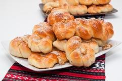 Mucenici :传统罗马尼亚曲奇饼 库存照片