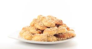 Mucenici, acht-vormige koekjes Stock Fotografie