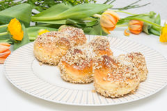 Mucenici: traditional Romanian cookies royalty free stock photography